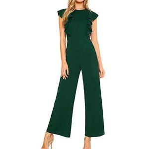 Green sleeveless jumpsuit!
